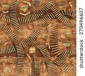 3d wooden pattern  seamless | Shutterstock . vector #270496607