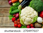 vegetables. tomatoes  potatoes  ... | Shutterstock . vector #270497027