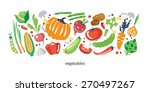fresh vegetables collection | Shutterstock .eps vector #270497267