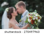 bride holding a beautiful... | Shutterstock . vector #270497963