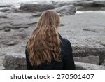 woman with long blond hair... | Shutterstock . vector #270501407