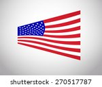 american flag vector. vector... | Shutterstock .eps vector #270517787