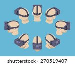 set of the isometric virtual... | Shutterstock .eps vector #270519407