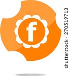 letter f vector flat icon.... | Shutterstock .eps vector #270519713