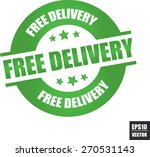 free delivery rubber stamp with ... | Shutterstock .eps vector #270531143