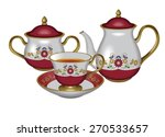 illustration of a teapot  a... | Shutterstock . vector #270533657