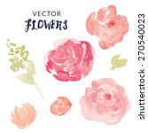 watercolor flower vector with... | Shutterstock .eps vector #270540023
