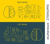 left and right brain functions... | Shutterstock .eps vector #270542993