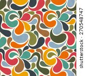 retro seamless abstract pattern | Shutterstock .eps vector #270548747