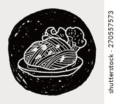 doodle pasta noodle | Shutterstock . vector #270557573