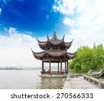 ancient pavilion on the west... | Shutterstock . vector #270566333