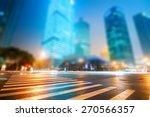 the light trails on the modern... | Shutterstock . vector #270566357