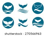 whale tail monochrome logo set. ... | Shutterstock .eps vector #270566963