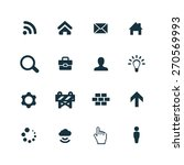 webdesign icons set on white... | Shutterstock . vector #270569993