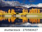 mountain landscape in autumn... | Shutterstock . vector #270583427