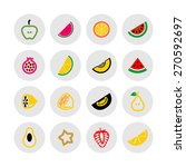fruits icons | Shutterstock .eps vector #270592697