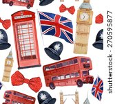 Watercolor London Pattern....