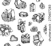 pattern with gems  crystals and ... | Shutterstock .eps vector #270607283