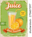 Vector Orange Juice Poster In...