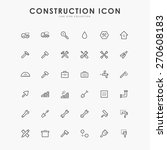 36 construction line icons | Shutterstock .eps vector #270608183