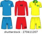 set of different soccer uniform.... | Shutterstock .eps vector #270611207