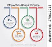 infographic design template.... | Shutterstock .eps vector #270611213