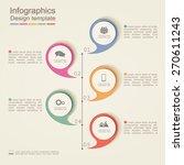 infographic design template.... | Shutterstock .eps vector #270611243