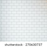 white vintage tiles background | Shutterstock . vector #270630737
