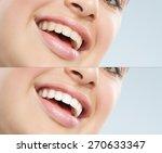 beautiful young european woman... | Shutterstock . vector #270633347