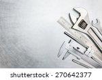 set of  metal working tools on... | Shutterstock . vector #270642377