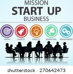 mission start up business... | Shutterstock . vector #270642473