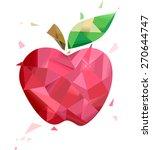 illustration of a red apple... | Shutterstock .eps vector #270644747