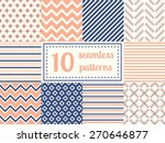 set of ten seamless patterns in ... | Shutterstock .eps vector #270646877