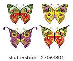 set of colour butterflies.... | Shutterstock .eps vector #27064801
