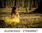 Little Girl In Yellow Princess...
