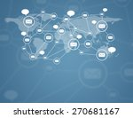 social network  communication... | Shutterstock . vector #270681167