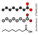 caprylic  octanoic  acid....   Shutterstock .eps vector #270681323