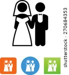 Wedding Couple Symbol.