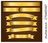 ribbon gold   Shutterstock .eps vector #270685487