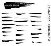 vector set of grunge brush... | Shutterstock .eps vector #270698417