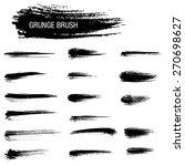 vector set of grunge brush...   Shutterstock .eps vector #270698627
