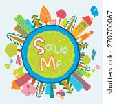 cute and lovely cartoon globe... | Shutterstock .eps vector #270700067