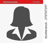businesswoman icon.... | Shutterstock .eps vector #270707297
