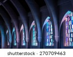 Arched Columns In Monastery...