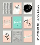 a set of hand drawn style... | Shutterstock .eps vector #270712127