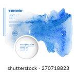 light water blue watercolor...   Shutterstock .eps vector #270718823
