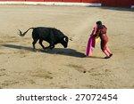 Matador And Bull In Traditiona...