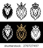 lion head in signs and labels | Shutterstock .eps vector #270727457