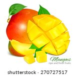 ripe fresh mangoes. vector... | Shutterstock .eps vector #270727517