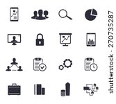 16 business icons set on white...